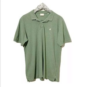 Knowledge Cotton Apparel Green Polo Shirt Size XL